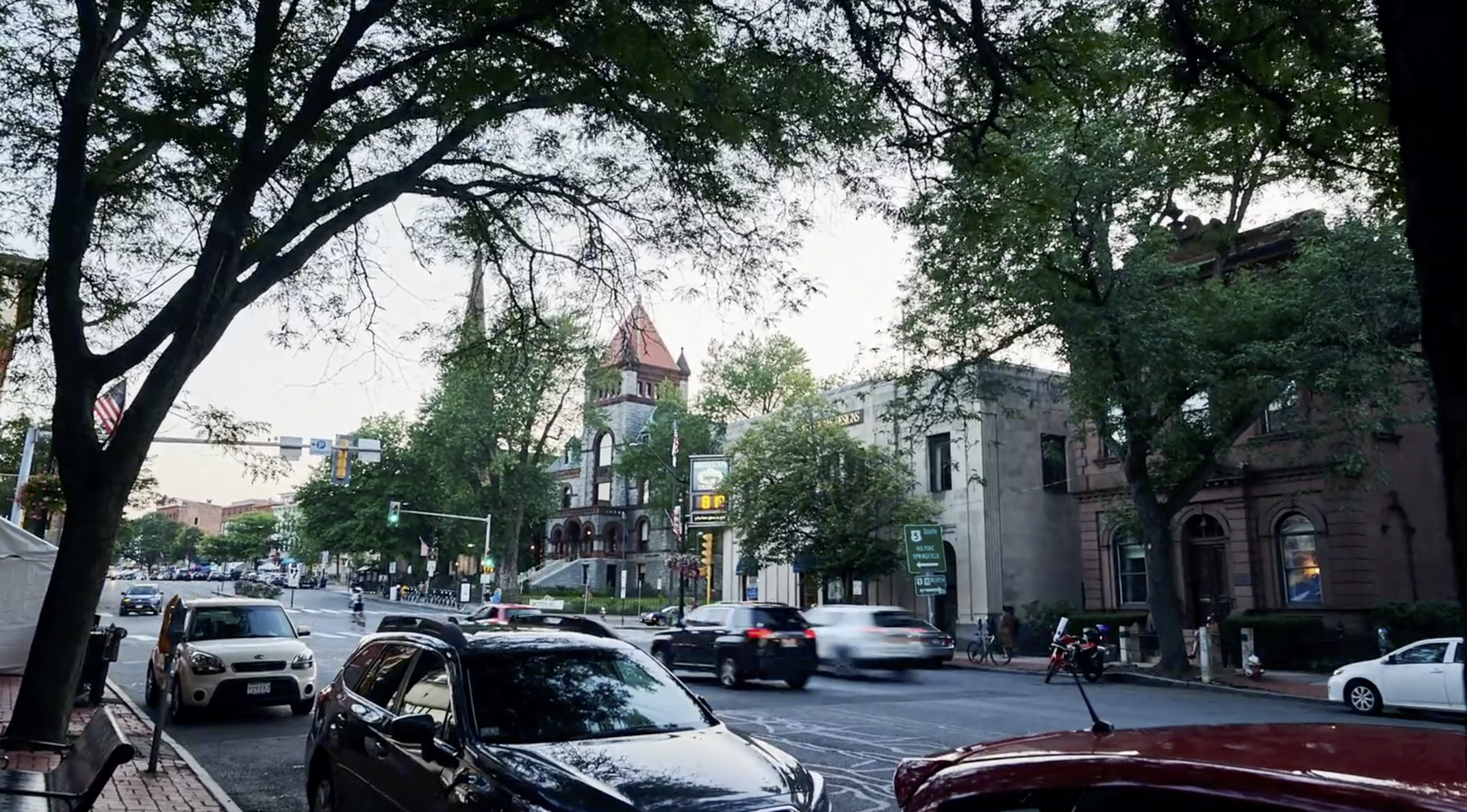 Massachusetts Downtown Northampton Timelapse